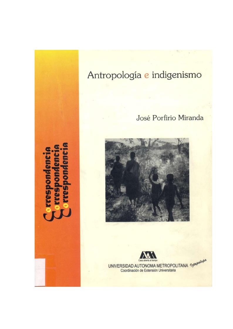 Antropología e Indigenismo