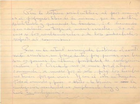 Muestra de Manuscritos Cuadernos sobre la Cuestión Social