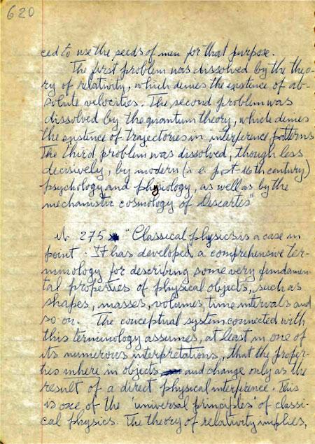 Muestra de Manuscritos Filosofía de la Ciencia