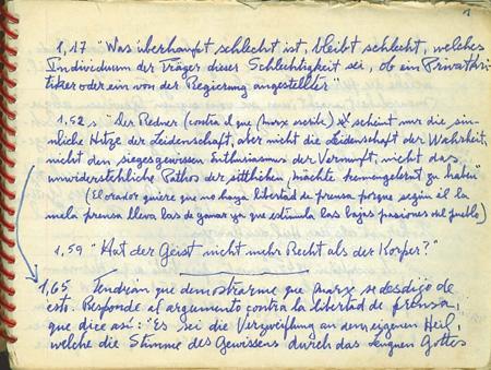 Muestra de Manuscritos Escritos de Marx y Engels
