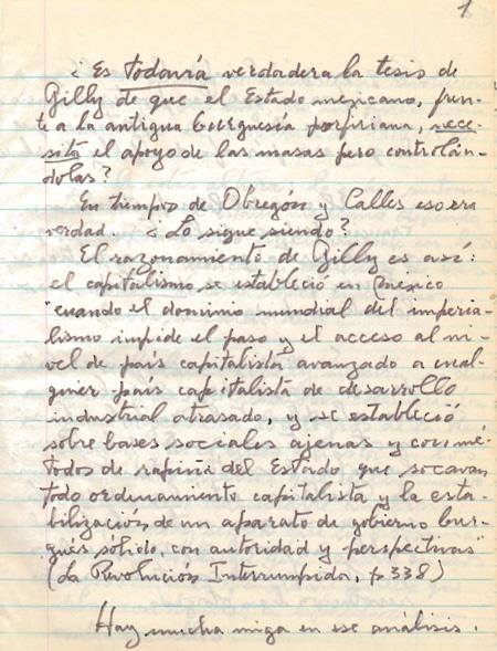 Muestra de Manuscritos Cuadernos sobre Política