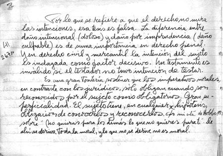 Muestra de Manuscritos Filosofía del Derecho